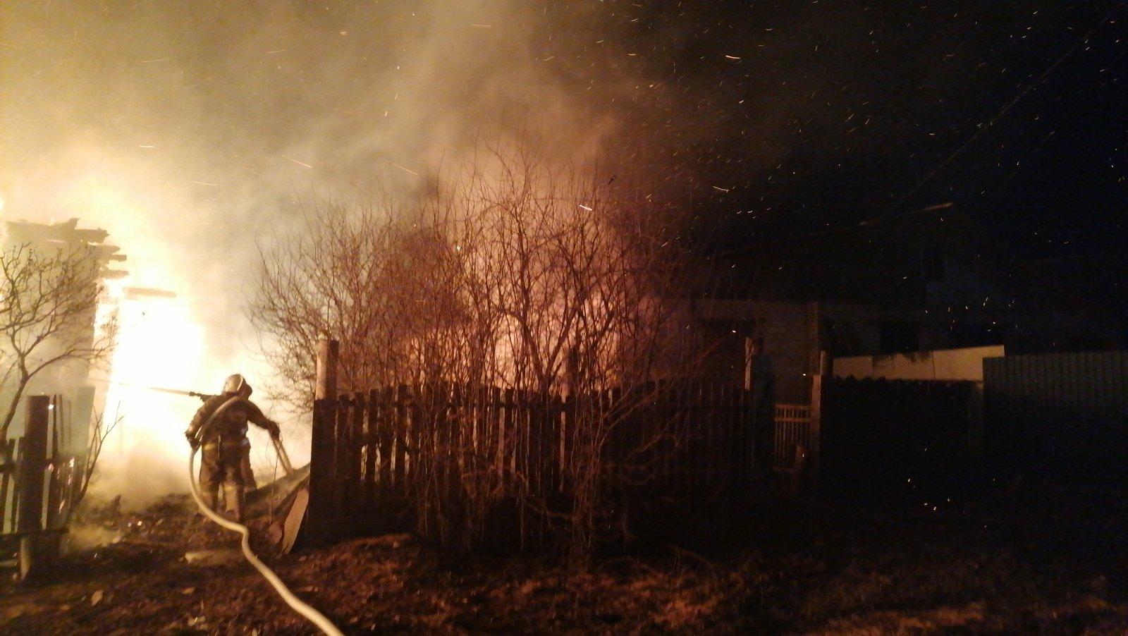 Пожар Ковровский район, с. Крутово, ул. Тонеева, д. 26
