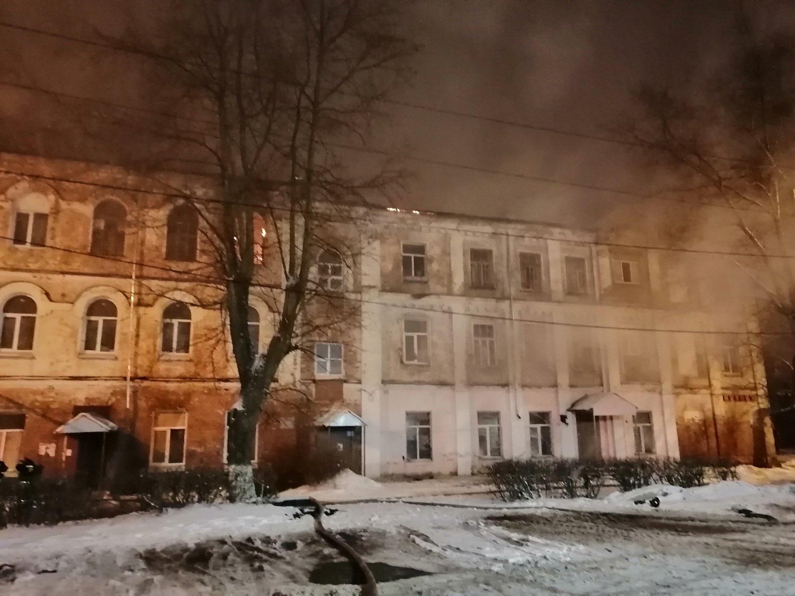 Пожар г. Собинка, ул. Рабочий проезд, дом 7