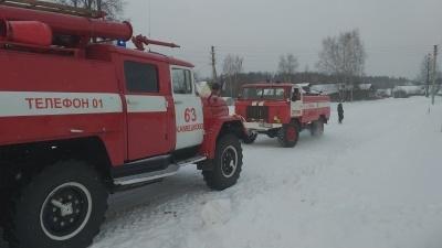 Пожар Камешковский район, д. Плясицыно, д 56.
