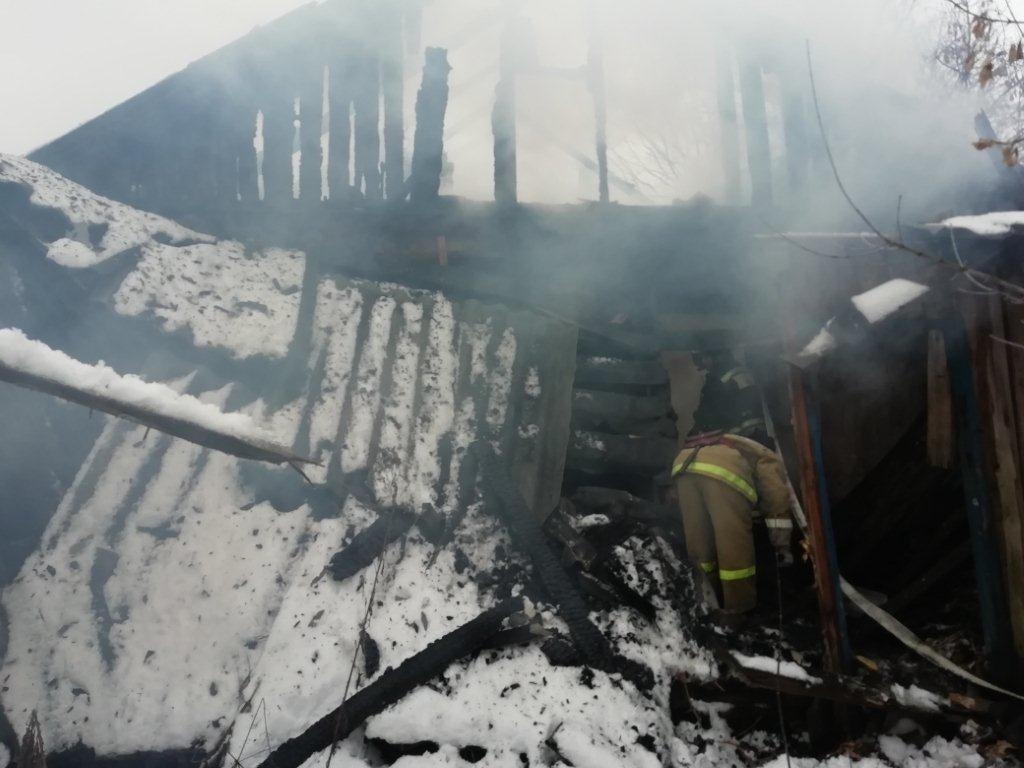 Пожар г. Кольчугино, ул. Осипенко, д. 26