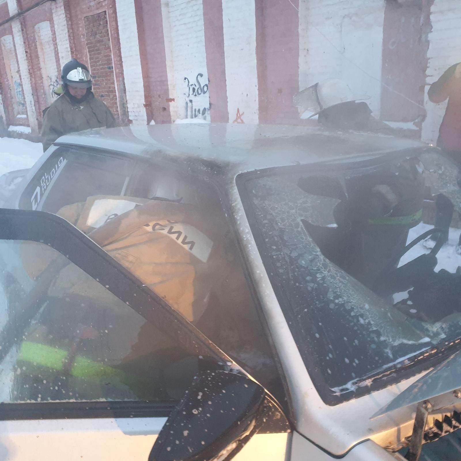 Пожар г. Собинка, ул. Димитрова, у д. 15