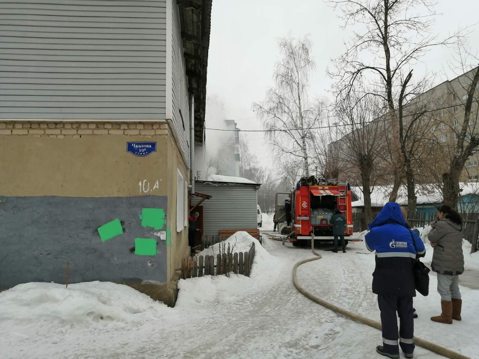 Пожар г. Муром, ул. Чкалова, д. 10 А