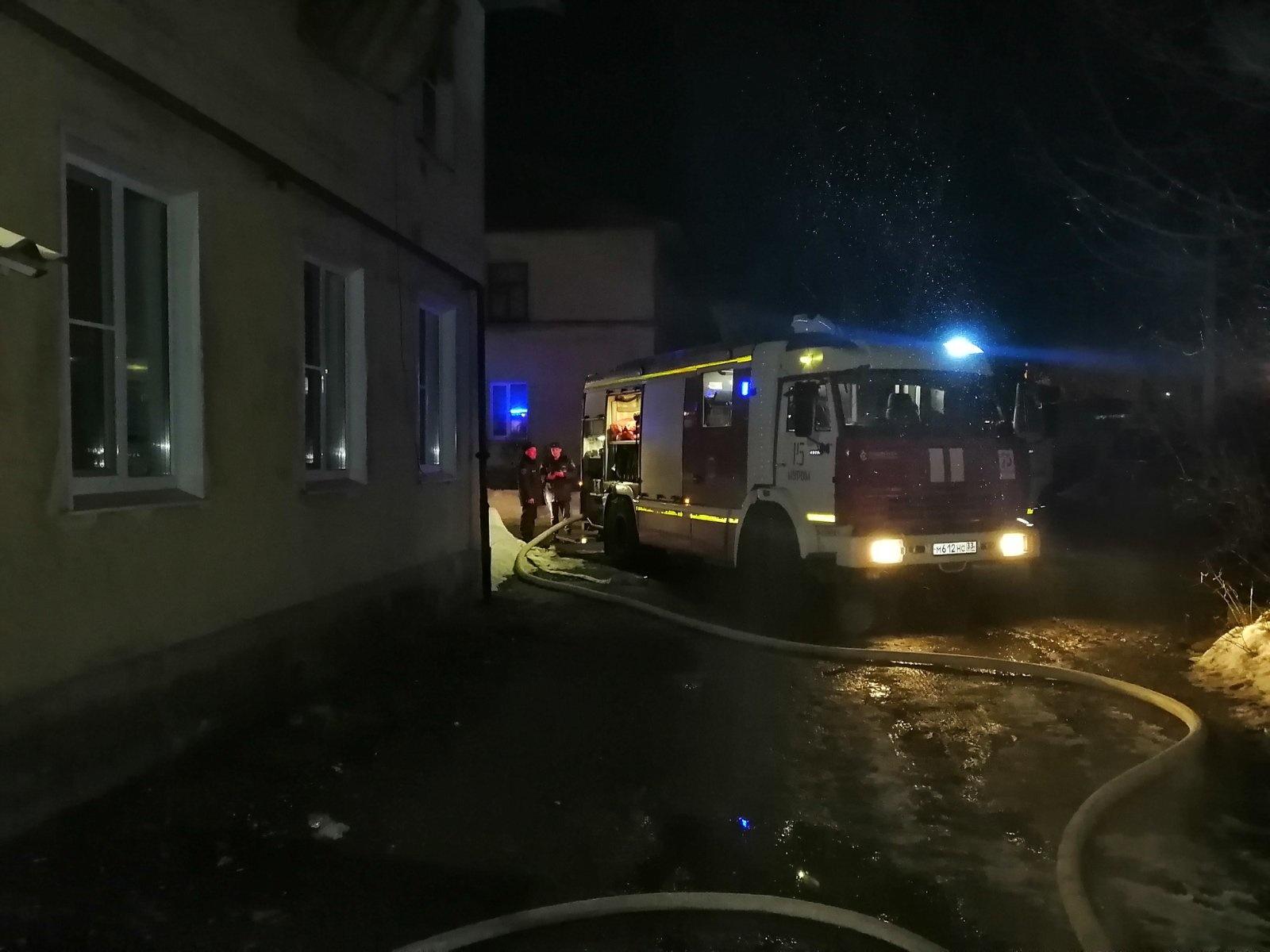 Пожар г. Муром, ул. Куликова, д. 19