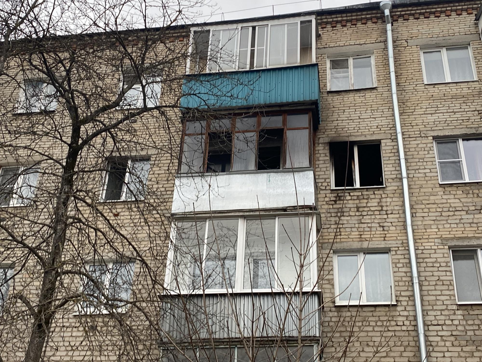 Пожар г. Александров, ул. Терешковой, д. 6