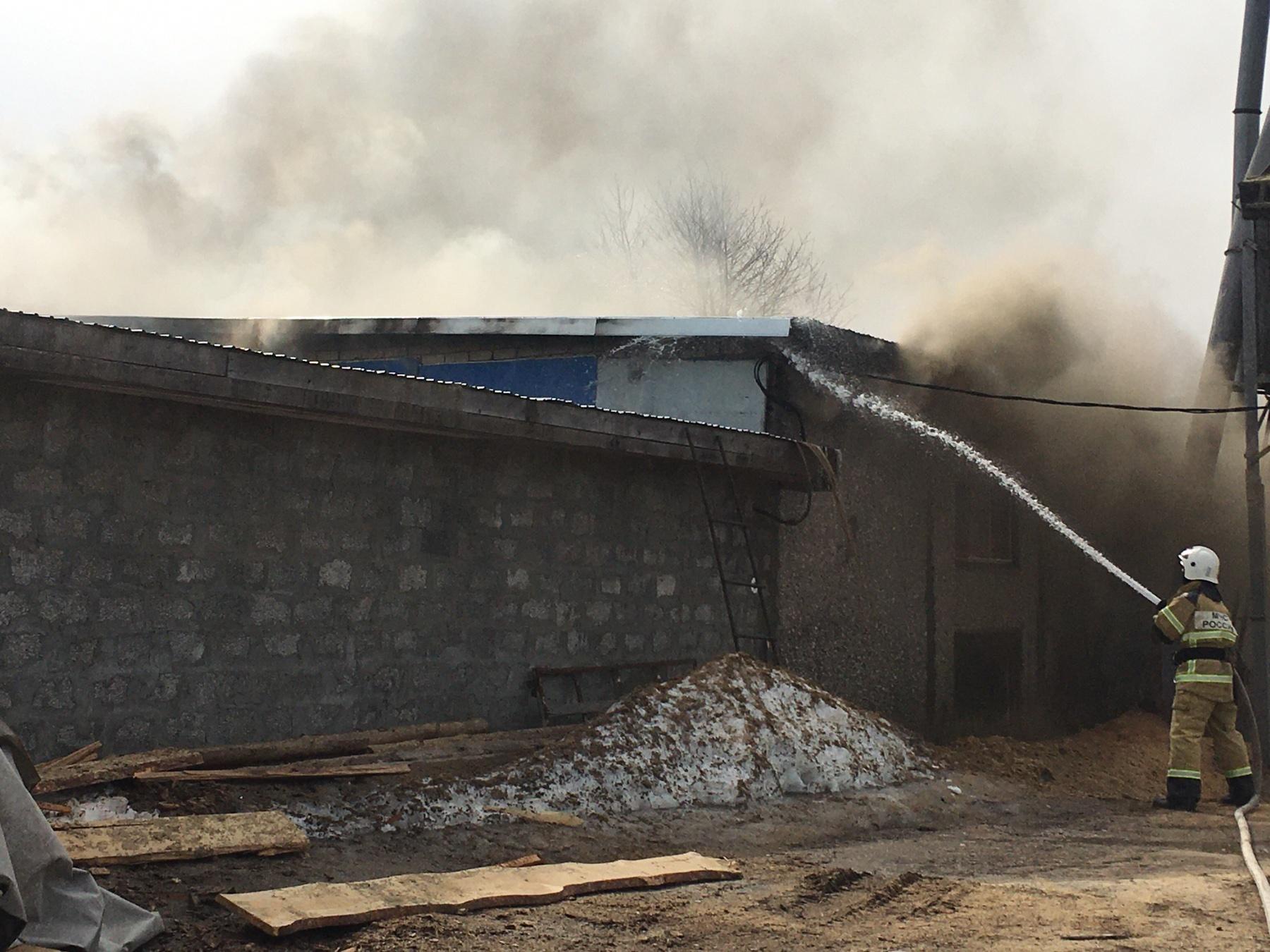Пожар Ковровский район, п. Глебово, ул. Речная, д. 6