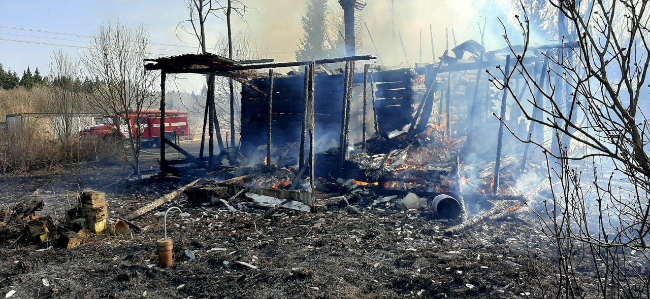Пожар Александровский район, д. Иваньково, ул. Владимирская, д. 7