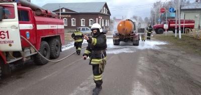 Пожар  г. Меленки ул. Комсомольская у д.95.