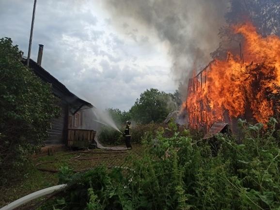 Пожар Кольчугинский район, д. Малое Братцево, д. 21