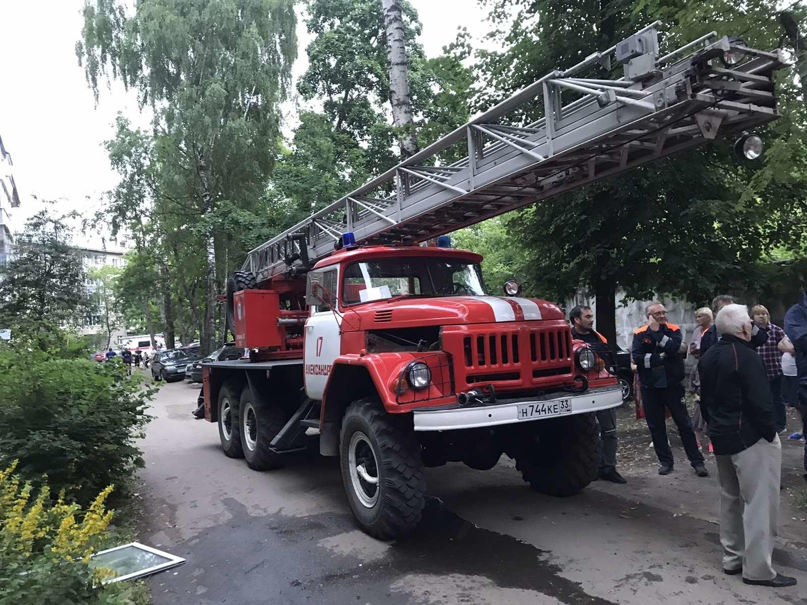 Пожар г. Александров, ул. Октябрьская, д 10