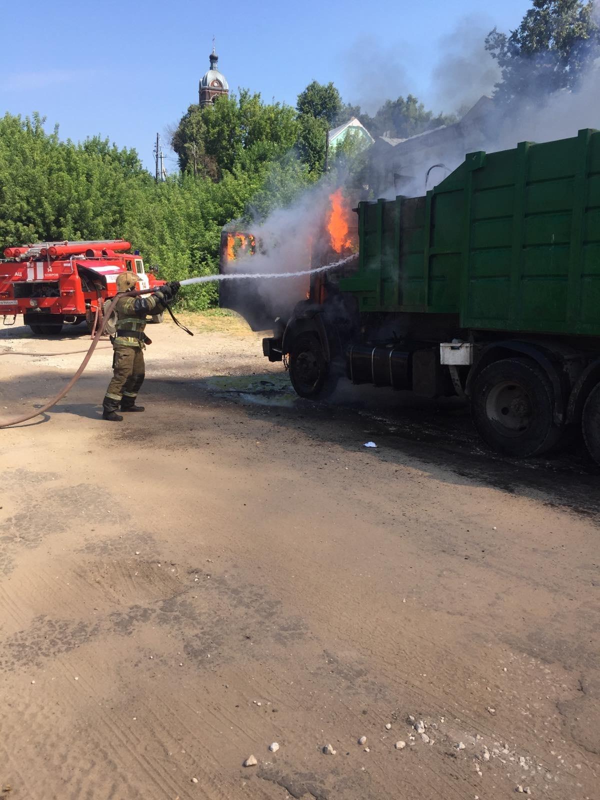 Пожар г. Ковров, ул. Першутова, у д. 24.