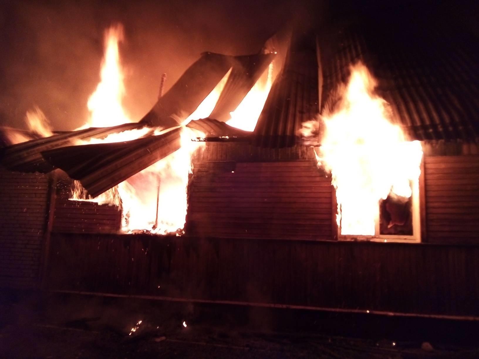 Пожар Камешковский район, д. Сергеиха, ул. Центральная, д. 46