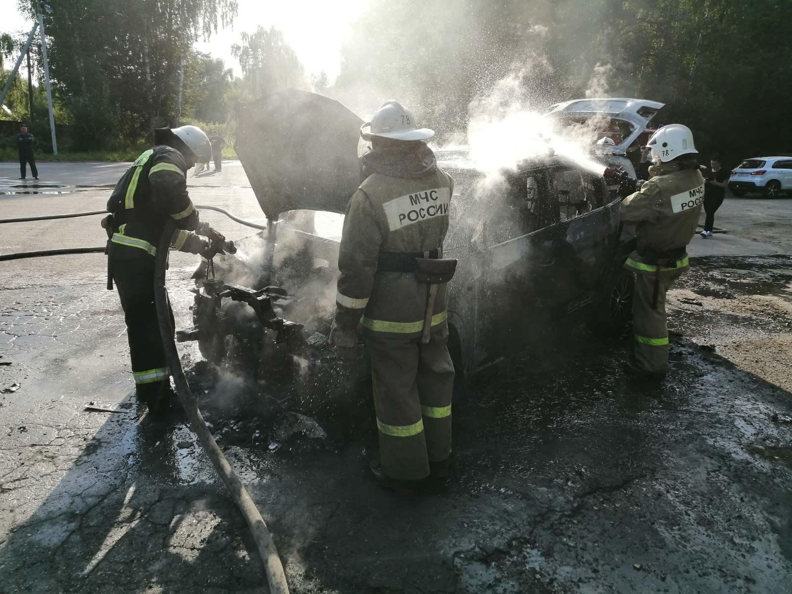 Пожар г. Собинка, ул. Ленина у д. 110