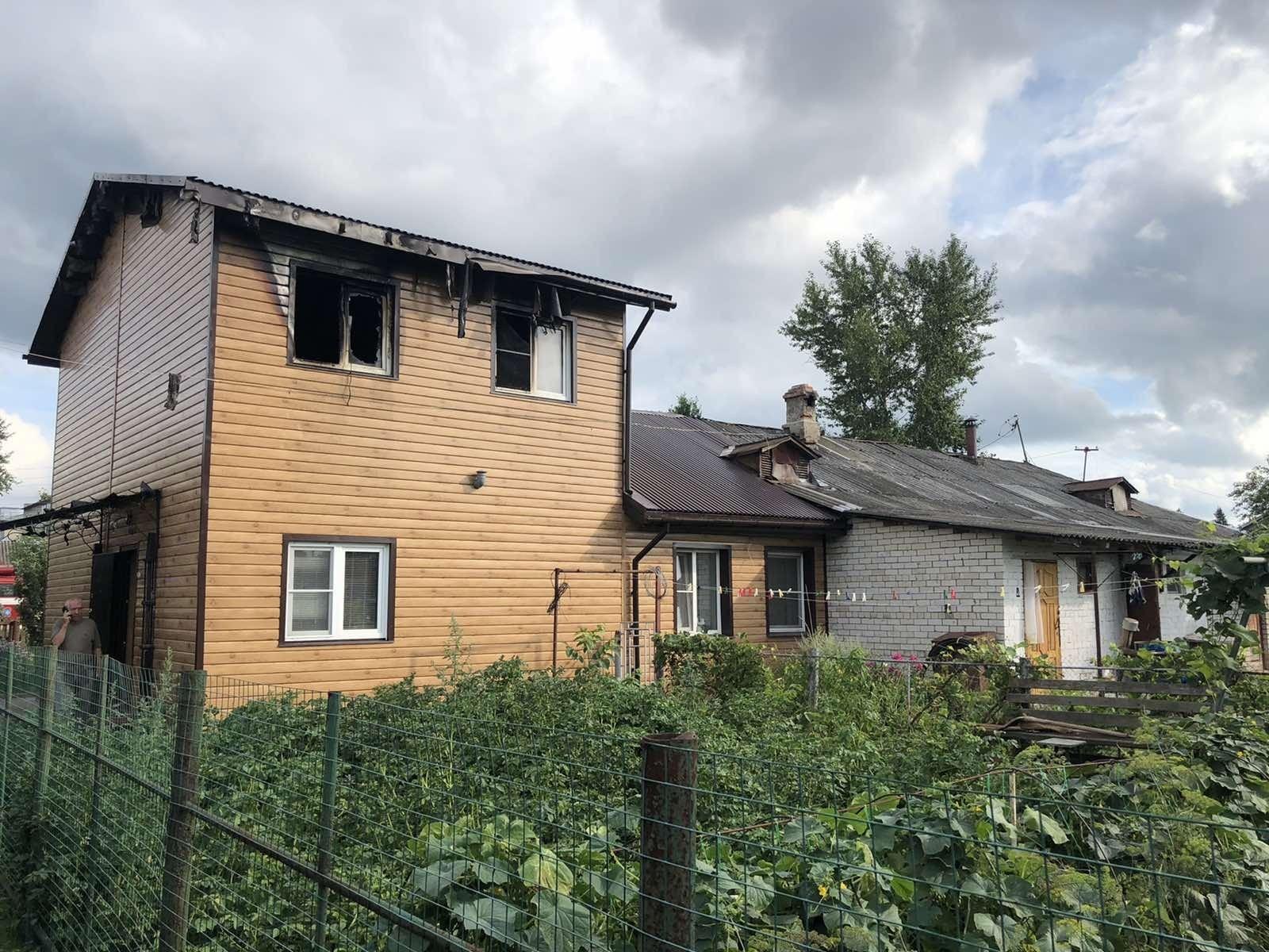 Пожар Кольчугинский район, п. Бавлены, ул. Рачкова, д. 14