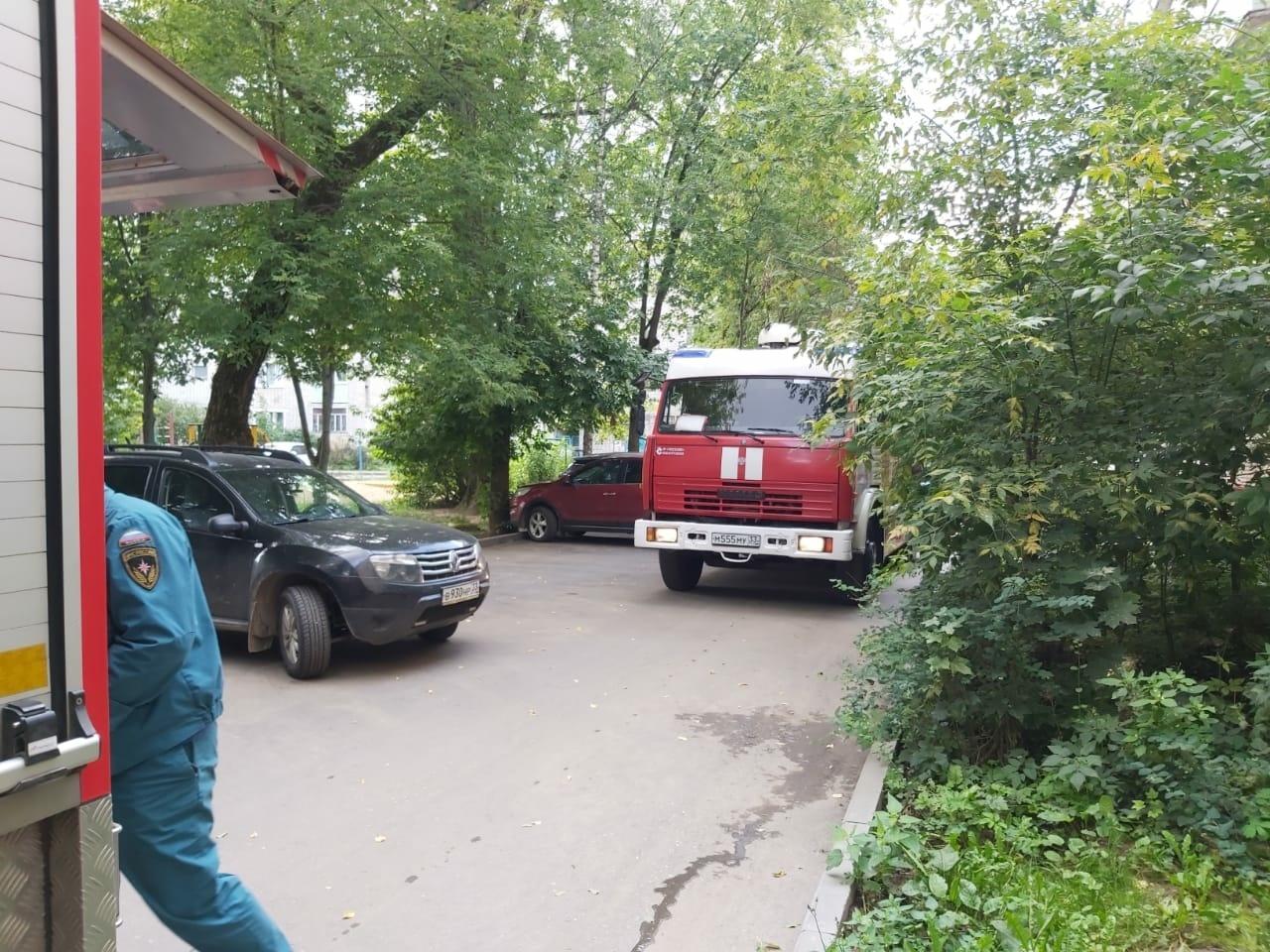 Пожар г. Александров, ул. Терешковой, д. 11