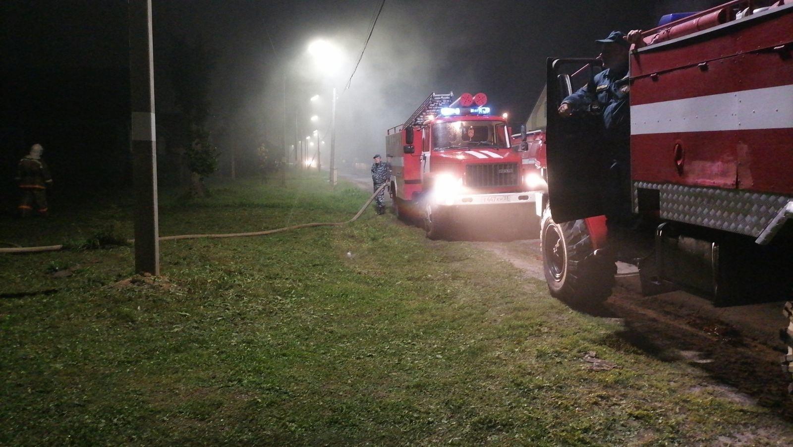 Пожар Ковровский район, с. Иваново, ул. Советская, д.19