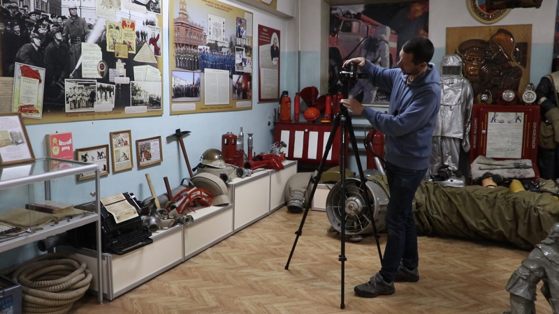 На базе пожарно-технической выставки Владимирской области началась работа по созданию виртуального музея пожарной охраны